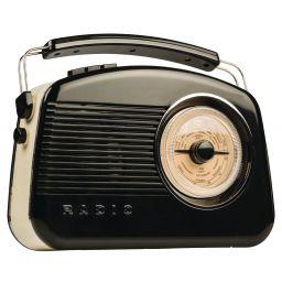 Draagbare DAB+ radio met retro-design - Zwart
