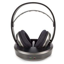 Draadloze TV-hoofdtelefoon met RF - Over-ear - Zilver/zwart