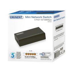 EMINENT- 5-poorts mini netwerkswitch 10/100Mbps