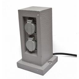 Buitenstopcontact met 2 stopcontacten 16A met deksel