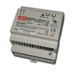 Industriële voeding voor DIN-RAIL - Meanwell - 24V 60W