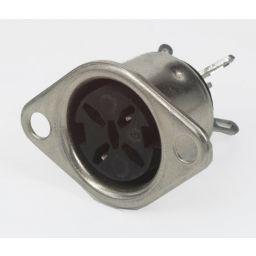 5-polige DIN connector - 360° Vrouwelijk - Chassismontage