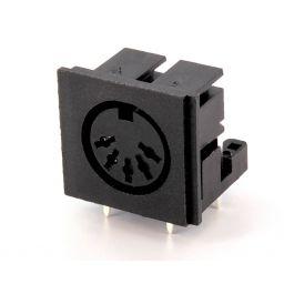 5-polig DIN connector - 180° - Vrouwelijk - Printmontage
