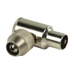 Haakse coax connectoren coax mannelijk metaal