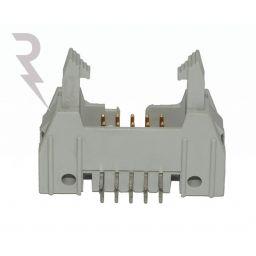 10-polige IDC header - Printmontage - Haaks - P2,54