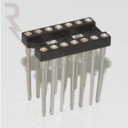 IC-voet 14 pin met Wire-Wrap aansluitingen ***