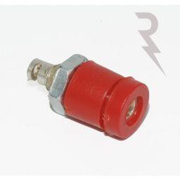Geïsoleerde stekkerbus - Rood - 2mm