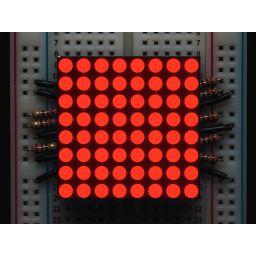 "Kleine 1.2"" 8x8 ultra bright rode LED matrix"