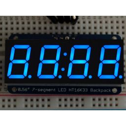 "Adafruit 0.56"" 4-digit 7-segm. Display w/I2C Backpack - Blue"