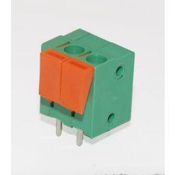 Schroefloze connector 2 polig groen - pitch=5mm