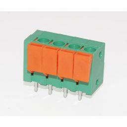 Schroefloze connector 4 polig groen - pitch=5mm
