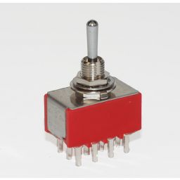 Toggle Switch Vierpolig ON-OFF-ON 5A-28VDC/120VAC