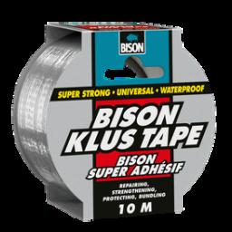 Bison klustape rol 10mx50mm grijs