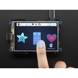 "PiTFT plus 480x320 3.5"" TFT + Touchscreen voor Raspberry Pi 2 & Raspberry Pi 3."