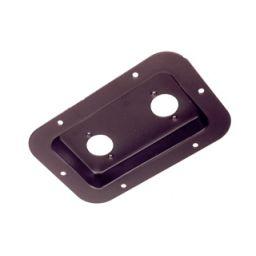 Connector inbouwplaat voor 2 XLR chassis connectoren 136x89mm
