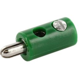 Banaanstekker - 2,6mm - Groen - Voor op kabel - Te solderen
