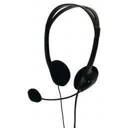 Stereo headset zwart