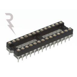 IC-voet - 24-polig - Vergulde tulpcontacten - 7,62mm - Stap: 2,54mm