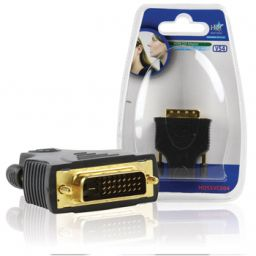 HDMI vrouwelijk  DVI-D mannelijk (18+1) - Verguld