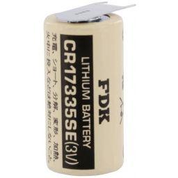 Lithium 3V 1200mAh 2/3AA 17x33,5mm -Met 3 soldeerpinnen