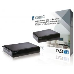 High-definition DVB-T2 ontvanger zwart