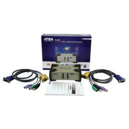 2-poorts PS/2 - USB KVM schakelaar - Aten