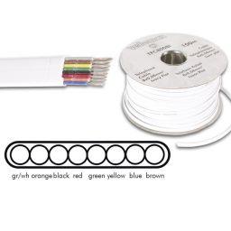 Telefoniekabel 8 aders voor RJ connectoren wit 100m