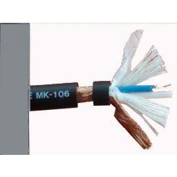 2x0,14 microfoonkabel OFC grijs low noise Hi-Q 6mm diameter ***