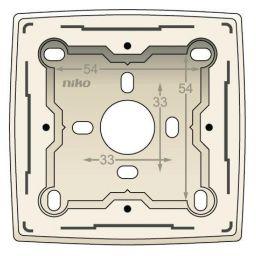 Enkelvoudige opbouwdoos voor alle 'NIKO' original. wit