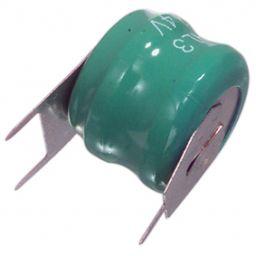 NiMH Knoopcel 2,4V - 60mAh - Ø 16.0x13.0 mm - met soldeeraansluitingen