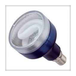 E14- Spaarlamp - 7W - 230V - d=50mm / l=85mm - 110° - 6400K (daglicht) ***