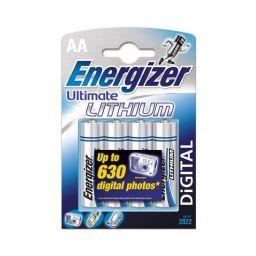 Energizer - Lithium - 4st AA-cel  - 15x50mm - 1,5V