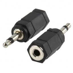 3,5mm mono plug mannelijk  3,5mm stereo jack vrouwelijk - Plastic - 1st
