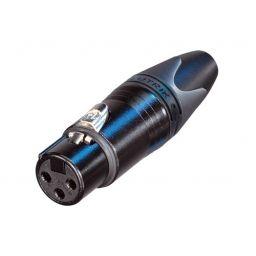 3-polige XLR stekker - NC3FXXB Vrouwelijk - Voor op kabel - Neutrik