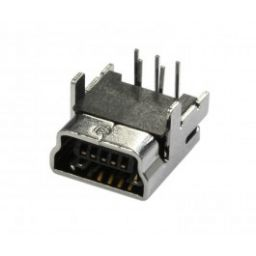 Mini USB - Printdeel liggend