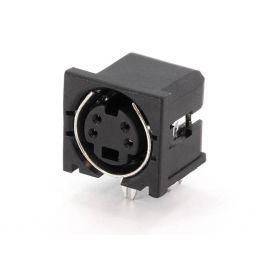 4-polige MINI DIN connector - Vrouwelijk - Printmontage