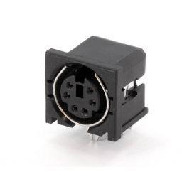 6-polige MINI DIN connector - Vrouwelijk - Printmontage