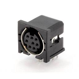 8-polige MINI DIN connector - Vrouwelijk - Printmontage ***
