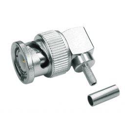 BNC connector - Mannelijk - 50 ohm - Krimpuitvoering - HQ - Voor RG-174 kabel