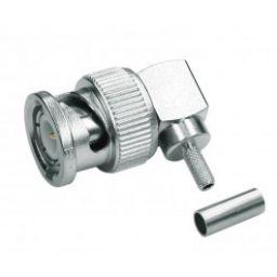 BNC connector - Mannelijk - 75ohm - Haaks - HQ - Voor RG59 kabel