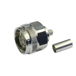 N connector - Mannelijk - Krimpuitvoering - Voor RG58 kabel
