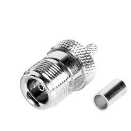 N connector - Vrouwelijk - Krimpuitvoering - Voor RG58 kabel