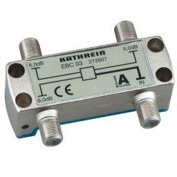 3-weg T-stuk met F-connectoren - 4x F Vrouwelijk