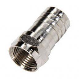 F - connector 4,9/8,4 - Mannelijk - Krimpuitvoering