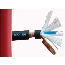 2x0,14 microfoonkabel OFC rood low noise Hi-Q 6mm diameter ***