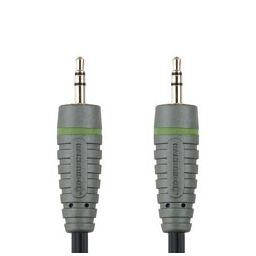 3,5mm stereo jack mannelijk  3,5mm stereo jack mannelijk - 1 meter