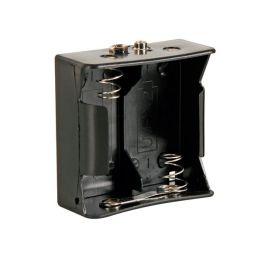 Batterijhouder voor 2 x D-cel - met batterijclips-aansluitingen
