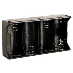 Batterijhouder voor 4 x D-cel - met soldeerlippen
