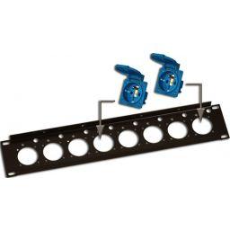 Rack panel 2 unit for 8 x mains outlet socket