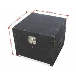 Compacte DJ case met tapijt bekleding